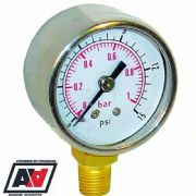 Fuel Pressure Gauge For Filter King Low Pressure Regulator 0-15psi Sytec